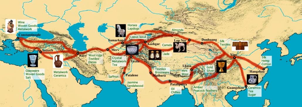 map of silk road