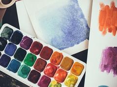 watercolours palet