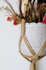 Macrame pot plant holder